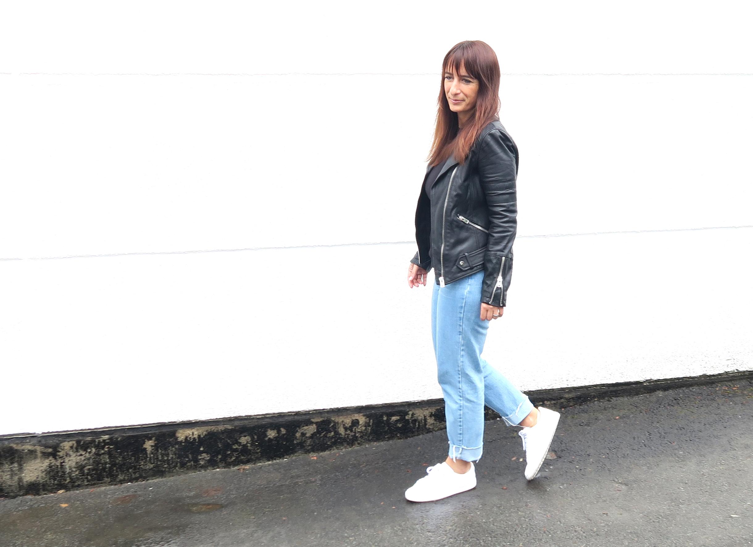 Jeans & Lederjacke – FERTIG
