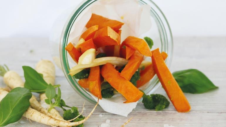 REZEPT | Süßkartoffel-Pastinaken Pommes | VEGAN