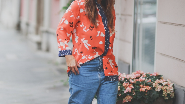 OUTFIT   FRENCH Style, GANNI and MOM Jeans
