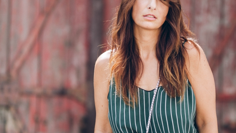 OUTFIT | GANNI SLIP DRESS, JEANS & SLING PUMPS
