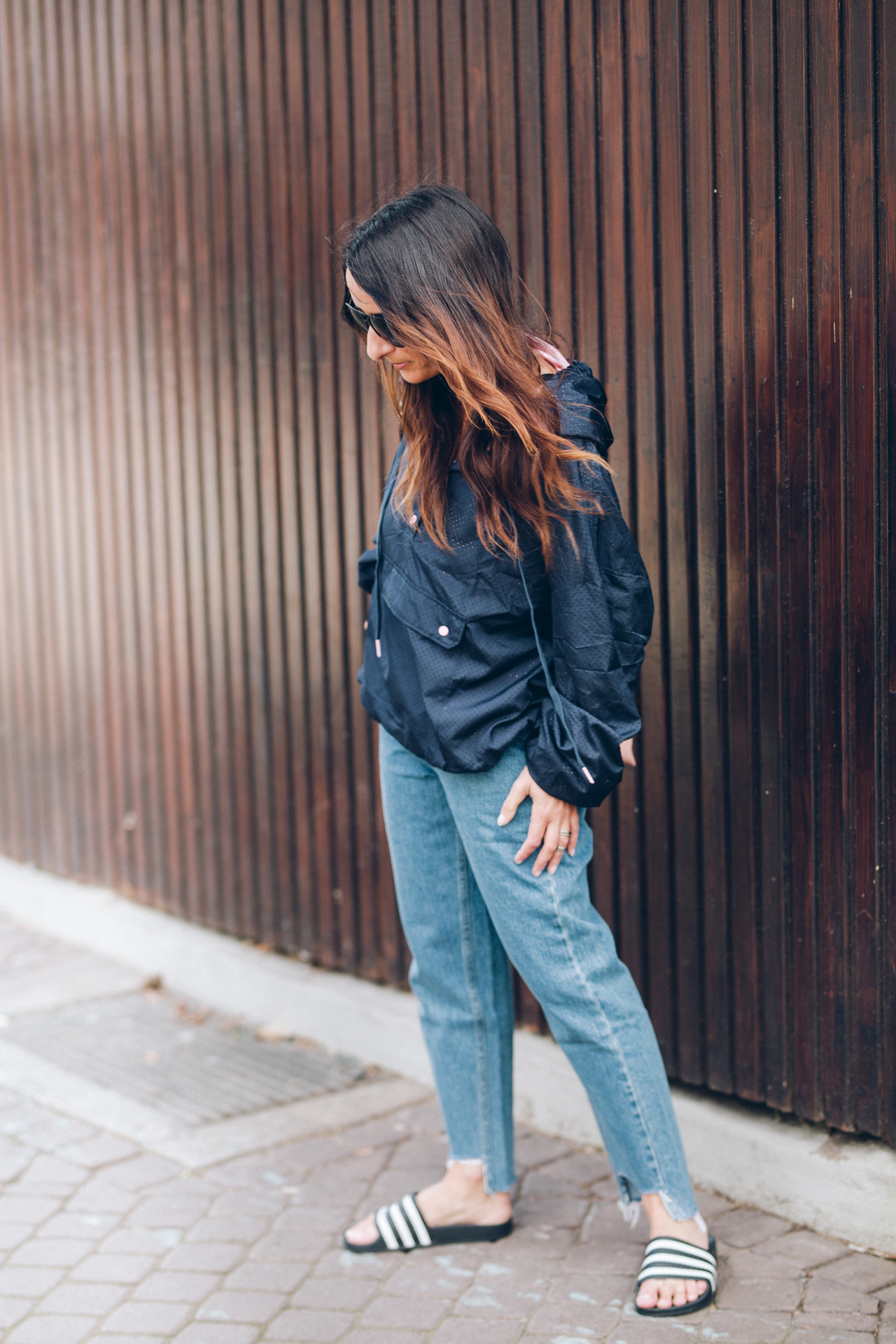 Denim Athleisure Style Outfit