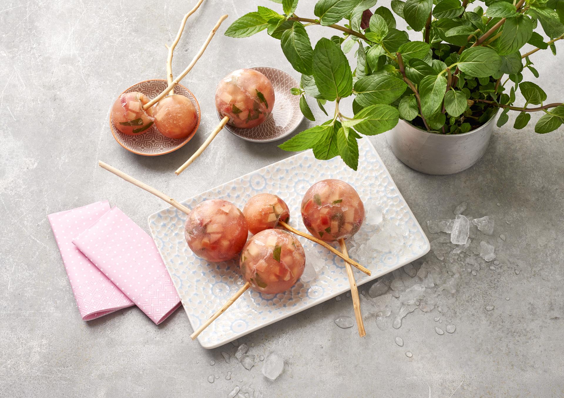 Rezept Popsicles – Apfel-Minz-Honig-Stieleis