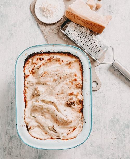 Gebackener Fenchel mit Parmigiano Reggiano